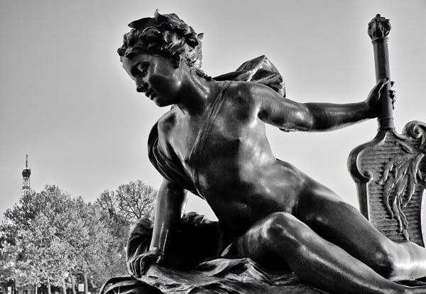 Tableau photo design pas cher statue de Paris.Tableau photo décoration murale. Tableau toile photo